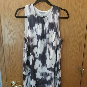 H&M black and white summer sheath dress